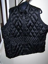 woman's size 3X (24W-26W) black vest by Land's End/lined/54 inch chest
