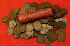 1937 thru 1952 CANADA CENT PENNY GEORGE VI SERIES 1 roll/50 coins
