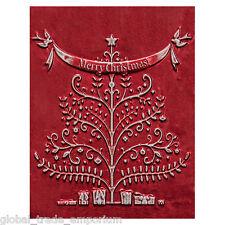 NEW SPELLBINDERS 'MERRY CHRISTMAS' 3D Embossing Folder E3DS-005 FREE UK P&P