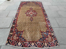 Old Traditional Hand Made Persian Carpet Rugs Wool Brown Oriental Rug 303x143cm