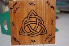 MINI Triquetra Pendulum  Board HANDMADE -Wicca, Witch, Pagan