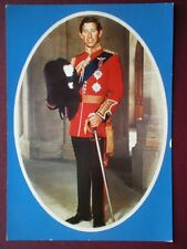 POSTCARD ROYALTY HRH THE PRINCE OF WALES - WELSH GUARDS TUNIC ORDER