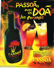PUBLICITE ADVERTISING 075  2001  PASSOA   liqueur aux fruits de la passion