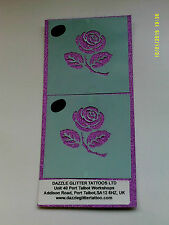 2 x rose flower face paint stencils reusable many times facepainter tool