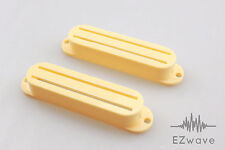 2 x Cream Hot Rail Blade Single Coil Sized Pickup Cover for Strat Guitar