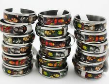 25pcs Bob Marley Stainless Steel rings Wholesale Fashion Jewelry Lots
