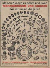 HAMBURG, Werbung / Anzeige 1939, Bruno v. Festenberg-Pakisch Motorrad-Werkstatt