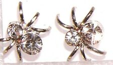 EARRINGS Rhinestone Studs ITSY BITSY SPIDER CLEAR