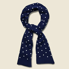 Ralph Lauren RRL Navy Polka Dot Mayfair Scarf New $185