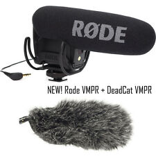 Rode VMP-R VideoMic Pro Shotgun Mic w/ Rycote Lyre Suspension w/ DEADCAT VMPR