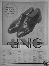 PUBLICITÉ 1931 UNIC CHAUSSURES DE LUXE POUR HOMME - ADVERTISING