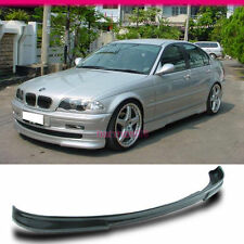 FIT FOR 99-01 BMW E46 3-SERIES 4DR SEDAN PU FRONT BUMPER LIP SPOILER URETHANE