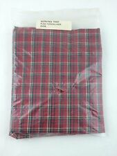 Longaberger Serving Tray Basket LINER ONLY Plaid Tidings NIB