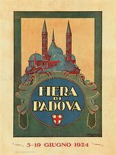 EXHIBITION CULTURAL FAIR PADOVA ITALY VINTAGE RETRO ADVERTISING POSTER 1727PYLV