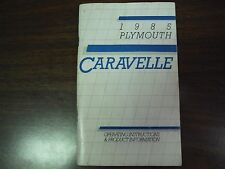 1985 Plymouth Caravelle Owner's Manual