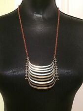 LUCKY BRAND Gold-Tone Beaded Multi-Bar Drama Necklace NWT L@@K Fast Shipping!!!!
