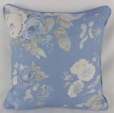 "Vintage Rose Ralph Lauren Pillow Cushion Cover 16"" Shabby Chic Floral Blue Grey"