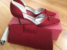 NEW-Jacques Vert Garnet Red Shoes, Size 4 & Handbag, Occasion, Wedding