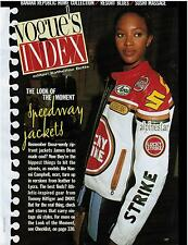 1996 NAOMI CAMPBELL in a Lucky Strike leather jacket  Magazine Print AD