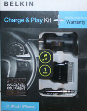 BELKIN CHARGE & PLAY KIT -  F5Z0327TT car charger usb cord AUX line