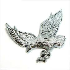 CAR MOTORCYCLE EAGLE SHAPE SIDE FENDER TRUNK EMBLEM BADGE SILVER # 4