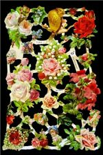 10 SHEETS ROSES FLORAL PANSY VICTORIAN THEME DIE CUTS SCRAPS SCRAP BOOK PAPERS