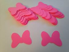 50 Large Hot Pink Minnie Mouse Bow Die Cut Cutout Confetti Embellishment