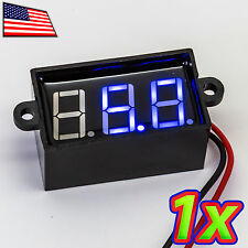 Blue Waterproof 80V Voltmeter - 0.56in 0.1V Precision IP66 2 Wire Self Powered
