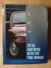 FORD LINCOLN MERCURY orig 1993 USA Mkt large Product Info Press Pack brochure