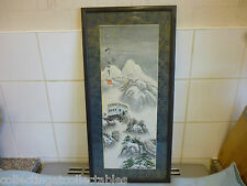 Signed Chinese Ink Painting  On Paper Season Great Wall Of China In Winter