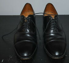 Black leather captoe oxfords 8.5 made in England Cheaney Loake