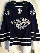 Reebok Authentic NHL Jersey NASHVILLE Predators Team Navy Alternate sz 52