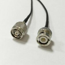 """RP TNC male plug to BNC male plug pigtail cable RG174 20cm 8""""  wireless work NEW"""