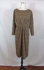 Liz Claiborne Women Trendy Animal Dress Brown PLUS SZ 1X
