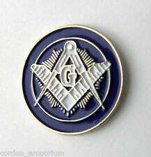 FREE MASON MASONS EMBLEM MASONIC LOGO LAPEL PIN BADGE 1 INCH