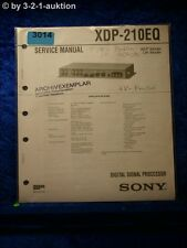 Sony Service Manual XDP 210EQ Digital Signal Processor (#3014)