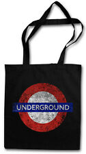LONDON UNDERGROUND HIPSTER BAG - Stofftasche Stoffbeutel Tasche - England UK NEW