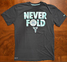 Men's Nike Kobe Bryant Poker Never Fold Gray T-Shirt Medium