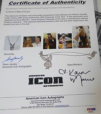 Kara Monaco Signed Personally Worn Playmate PMOY Bunny Diamond Platinum Necklace