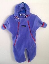 Patagonia Bunting Fleece Baby Infant 10 - 15 Lbs Blue Purple EUC