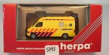 Herpa 1/87  043748 Mercedes Benz Sprinter RTW Ambulance Limburg NL OVP #5793
