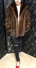 Mink Fur Coat With Huge Sable Fur Collar. Great Condition. Size 6