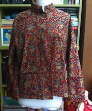 INDIAN BLOCK PRINT ORVIS LADIES JACKET - SIZE L 14/16