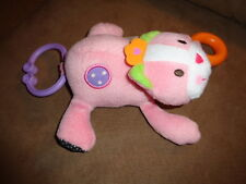 Cat Baby Rattle Pink Kitten Carters Just One you pull tail vibrate stuffed plush