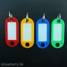 10 Pcs Plastic Key Tags Assorted Key Rings ID Tags Name Card Label Hot Sale Hot