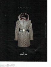 PUBLICITE ADVERTISING 116  2002   doudoune manteau Monclear