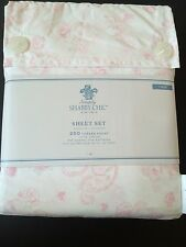 Simply Shabby Chic Paisley Rose Pink White Sheet Set Twin NWT