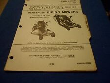 (DRAWER 22) Snapper Series 4 & 5 Rear Engine Riding Mowers Parts Manual