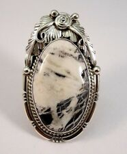 Navajo Sterling Silver Handmade White Buffalo Turquoise Ring - Alfred Martinez