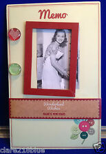 NEW Retro Shabby Chic Button Magnetic Memo Board Glass Magnet Photo Frame Mother